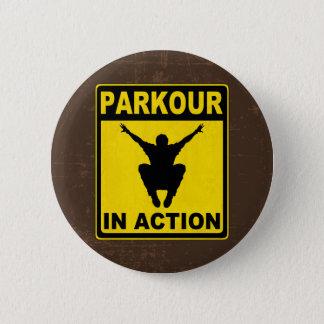 Parkour dans l'enseigne d'action pin's