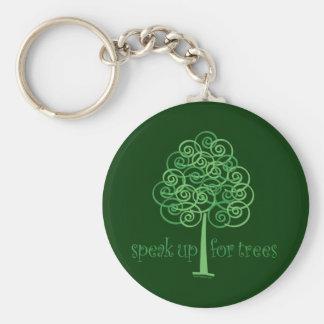 Parlez pour des arbres - arbre Hugger Porte-clé Rond