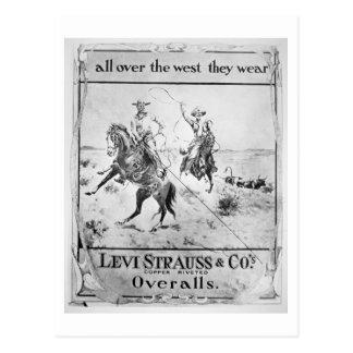 Parlez pour Lévi Strauss et Co, c.1900 (le litho) Carte Postale