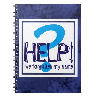 Parodie bleue de monogramme carnet