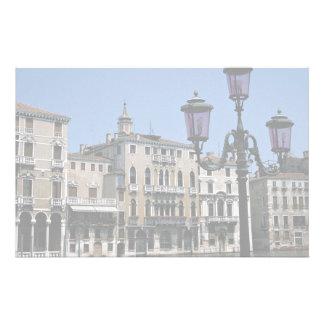 Paroisse de ville médiévale étrange, Venise, Itali Papier À Lettre Personnalisé