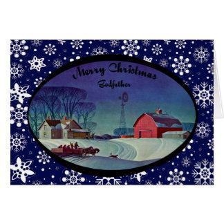 Parrain de Joyeux Noël Carte De Vœux