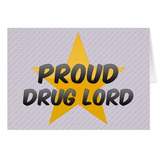 Parrain de la drogue fier carte de vœux