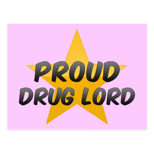 Parrain de la drogue fier carte postale