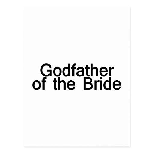 Parrain de la jeune mariée cartes postales