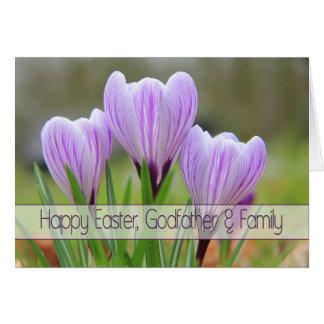 Parrain et famille Joyeuses Pâques Carte De Vœux
