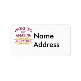 Parrain extraordinaire étiquette d'adresse