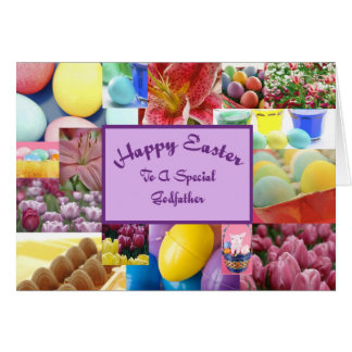 Parrain heureux de Pâques Carte De Vœux