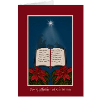 Parrain, Noël, message ouvert de Noël de bible Carte De Vœux