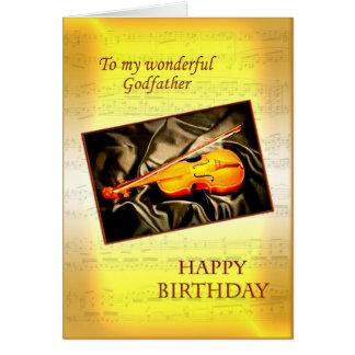 Parrain, une carte d'anniversaire musicale avec un