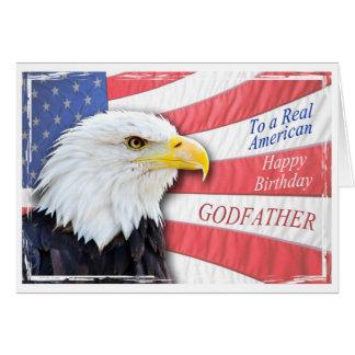 Parrain, une carte d'anniversaire patriotique