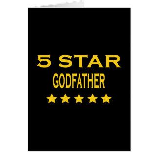 Parrains frais drôles : Parrain de cinq étoiles Carte