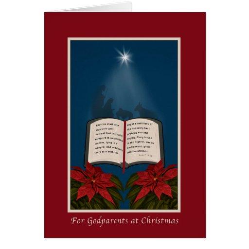 Parrains, message ouvert de Noël de bible Carte De Vœux
