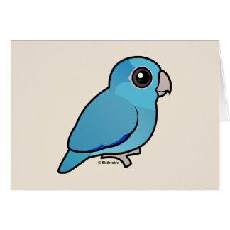 Parrotlet Pacifique bleu Carte De Vœux