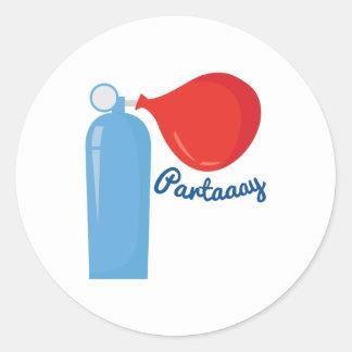 Partaaay Sticker Rond
