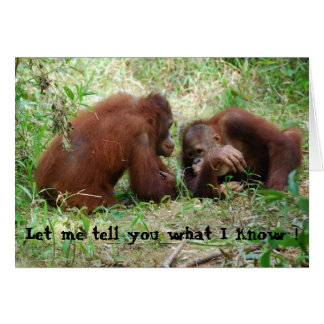 Partage des amis d'orang-outan de bavardage cartes