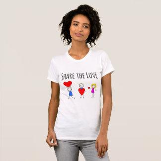 Partagez l'amour - T-shirt de Saint-Valentin