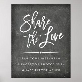 Partagez le tableau de l'amour | épousant Hashtag