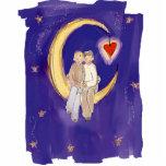 Partagez nos mariés de joie sur la lune photos en relief