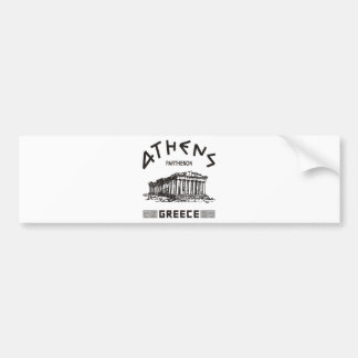 Parthenon - Athènes - Grec (noir) Autocollant De Voiture