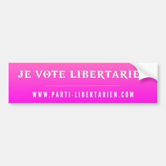 Autocollant Libertarien Rose