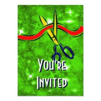 Parti Vert de lancement d'ouverture officielle Invitations