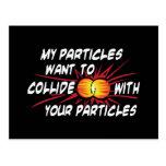 Particules d'amour de geek cartes postales