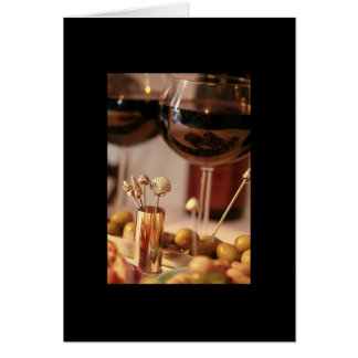 Partie 2 de vin et de fromage - carte vierge