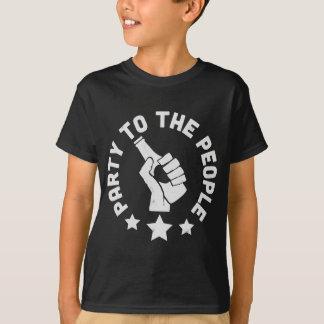 Partie aux personnes t-shirts