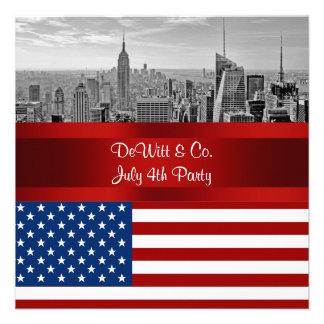 Partie bleue blanche rouge de drapeau des Etats-Un Invitations Personnalisables