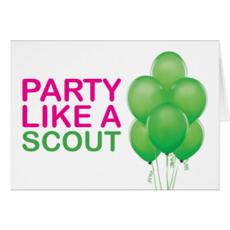 Partie comme une carte d'anniversaire de scout