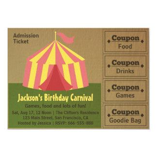 Partie d'anniversaire de enfant : Billet Carton D'invitation 12,7 Cm X 17,78 Cm