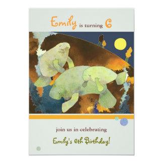 Partie d'anniversaire de enfant de famille de carton d'invitation  12,7 cm x 17,78 cm