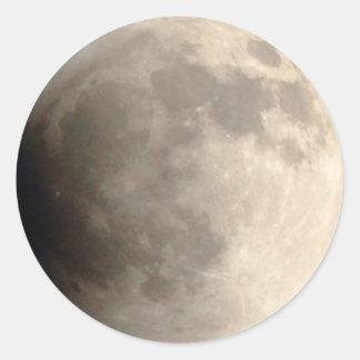 Partie de 0h01 du matin de l'éclipse lunaire (4) sticker rond