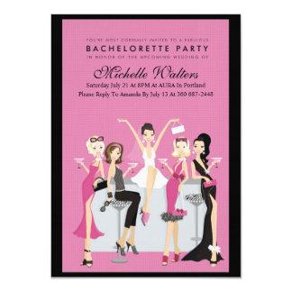 Partie de Bachelorette Carton D'invitation 11,43 Cm X 15,87 Cm