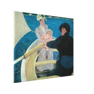 Partie de canotage par Cassatt impressionisme Impression Sur Toile