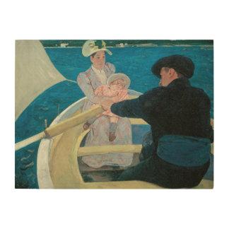 Partie de canotage par Cassatt impressionisme Impression Sur Bois