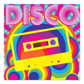 Partie de disco faire-part personnalisés