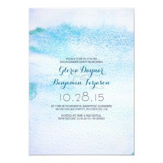Partie de fiançailles bleue d'Ombre d'aquarelle Carton D'invitation 12,7 Cm X 17,78 Cm