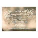 Partie de fiançailles florale de brun moderne de carton d'invitation