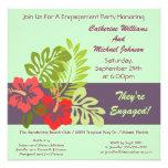 Partie de fiançailles tropicale florale de mariage faire-part personnalisés