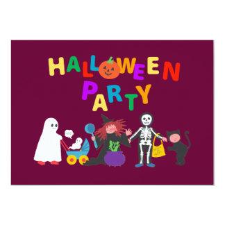 Partie de Halloween Carton D'invitation