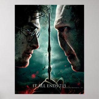 Partie de Harry Potter 7 - Harry contre Voldemort Affiches