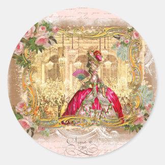 Partie de Marie Antoinette dans le rose à Versaill Autocollants