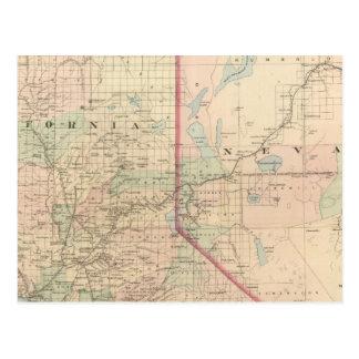 Partie de nord de la Californie et du Nevada Cartes Postales