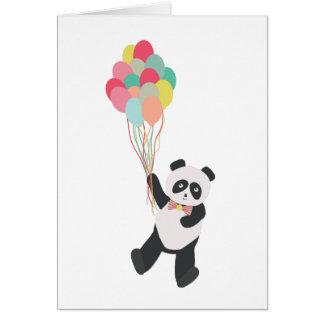 Partie de panda - panda d'anniversaire avec des carte de vœux