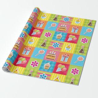 Partie de patchwork papiers cadeaux