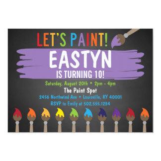 Partie de peinture de tableau/partie Invitatoin Carton D'invitation 12,7 Cm X 17,78 Cm