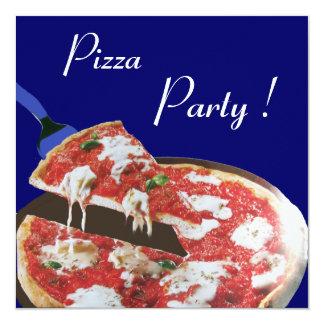 PARTIE de PIZZA, dîner ITALIEN de CUISINE, brunch, Carton D'invitation 13,33 Cm