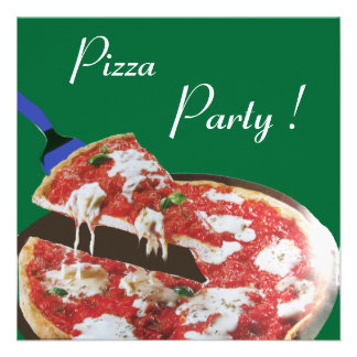 PARTIE de PIZZA dîner ITALIEN de CUISINE brunch Cartons D'invitation